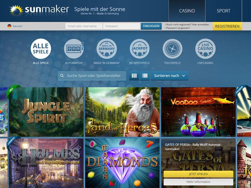 Sunmaker Online Casino Gewinnausschuttung